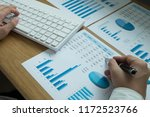 businessmen are pointing... | Shutterstock . vector #1172523766