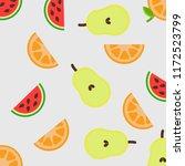 fruit flat background pattern | Shutterstock .eps vector #1172523799