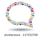 bubble of communication in... | Shutterstock .eps vector #117252700