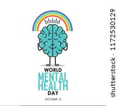 world mental health day... | Shutterstock .eps vector #1172530129