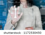 business button of justice... | Shutterstock . vector #1172530450