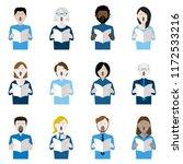 set of twelve icons of...   Shutterstock .eps vector #1172533216