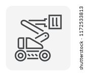 boom lift icon design for... | Shutterstock .eps vector #1172533813