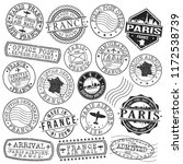 paris france stamp vector art... | Shutterstock .eps vector #1172538739