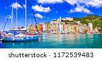 beautiful coastal town... | Shutterstock . vector #1172539483
