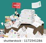 businessman needs help under a... | Shutterstock .eps vector #1172541286