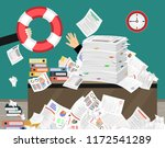 businessman sticks out of a... | Shutterstock .eps vector #1172541289