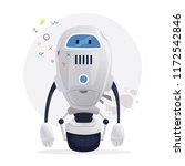 robot character. technology ... | Shutterstock .eps vector #1172542846