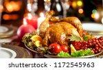 closeup image of tasty baked...   Shutterstock . vector #1172545963