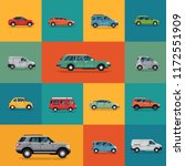 transport themed vector banner  ... | Shutterstock .eps vector #1172551909