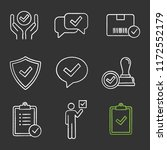approve chalk icons set.... | Shutterstock .eps vector #1172552179