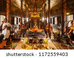 wat phnom or mountain pagoda is ...   Shutterstock . vector #1172559403