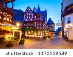 bacharach old town at night....   Shutterstock . vector #1172559589