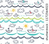 seamless pattern in the concept ... | Shutterstock .eps vector #1172564023