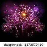 vector holiday festival pink... | Shutterstock .eps vector #1172570410