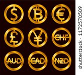 world currencies signs  dollar... | Shutterstock .eps vector #1172570509