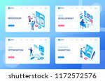 web development process concept.... | Shutterstock .eps vector #1172572576