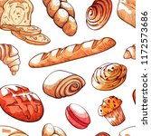 bread products hand drawn... | Shutterstock .eps vector #1172573686