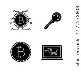 bitcoin cryptocurrency glyph... | Shutterstock .eps vector #1172573803