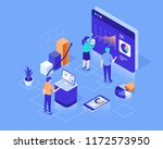 data analysis concept with... | Shutterstock .eps vector #1172573950