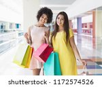 beautiful multiracial girls... | Shutterstock . vector #1172574526