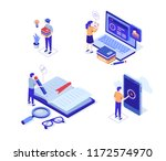 online distance education... | Shutterstock .eps vector #1172574970