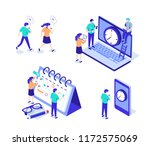 time management characters set. ... | Shutterstock .eps vector #1172575069
