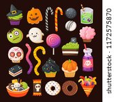 set of colorful treats for a... | Shutterstock .eps vector #1172575870