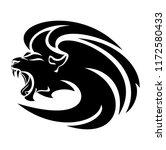 roaring lion head design  ... | Shutterstock .eps vector #1172580433