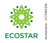 green star logo  with white... | Shutterstock .eps vector #1172581336