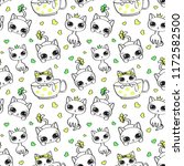 seamless pattern with cute... | Shutterstock .eps vector #1172582500