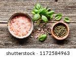 himalayan salt with green... | Shutterstock . vector #1172584963