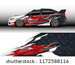 car decal wrap design vector.... | Shutterstock .eps vector #1172588116