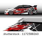 car decal wrap design vector.... | Shutterstock .eps vector #1172588263