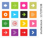 arrow icon set popular color...