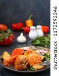 multicolored bell pepper... | Shutterstock . vector #1172592346