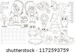 letter f. dot to dot... | Shutterstock .eps vector #1172593759
