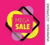 mega sale banner | Shutterstock .eps vector #1172596363