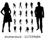 people | Shutterstock .eps vector #117259684