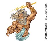 powerful greek god zeus with a... | Shutterstock .eps vector #1172597236