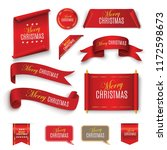 merry christmas scroll red.... | Shutterstock .eps vector #1172598673