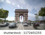 triumphal arch on the champs... | Shutterstock . vector #1172601253