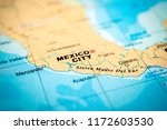 mexico on the map | Shutterstock . vector #1172603530