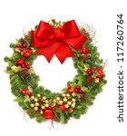 Christmas Wreath With Red...