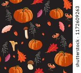 thanksgiving seamless... | Shutterstock .eps vector #1172609263