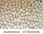 many cheap meatballs. white... | Shutterstock . vector #1172610106