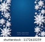 vector merry christmas and... | Shutterstock .eps vector #1172610259