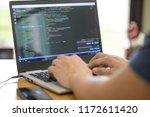 freelance programmer or... | Shutterstock . vector #1172611420
