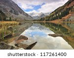 Water and mountains - stock photo