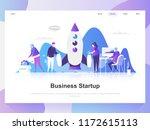 business startup modern flat... | Shutterstock .eps vector #1172615113